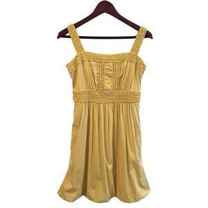 BCBG Maxazria Yellow Puff Dress Size Small